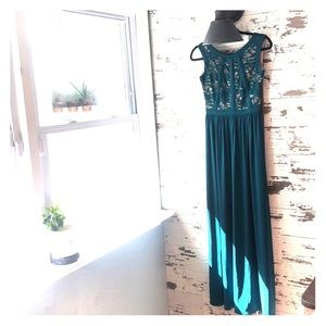 Long dress great for fall wedding